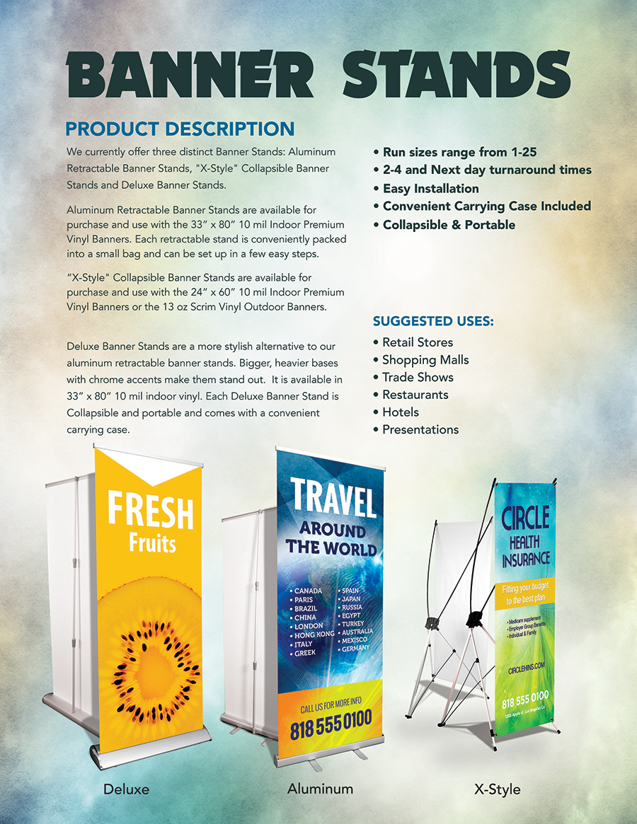 Retractable Banner Stand | Producer Tool Box