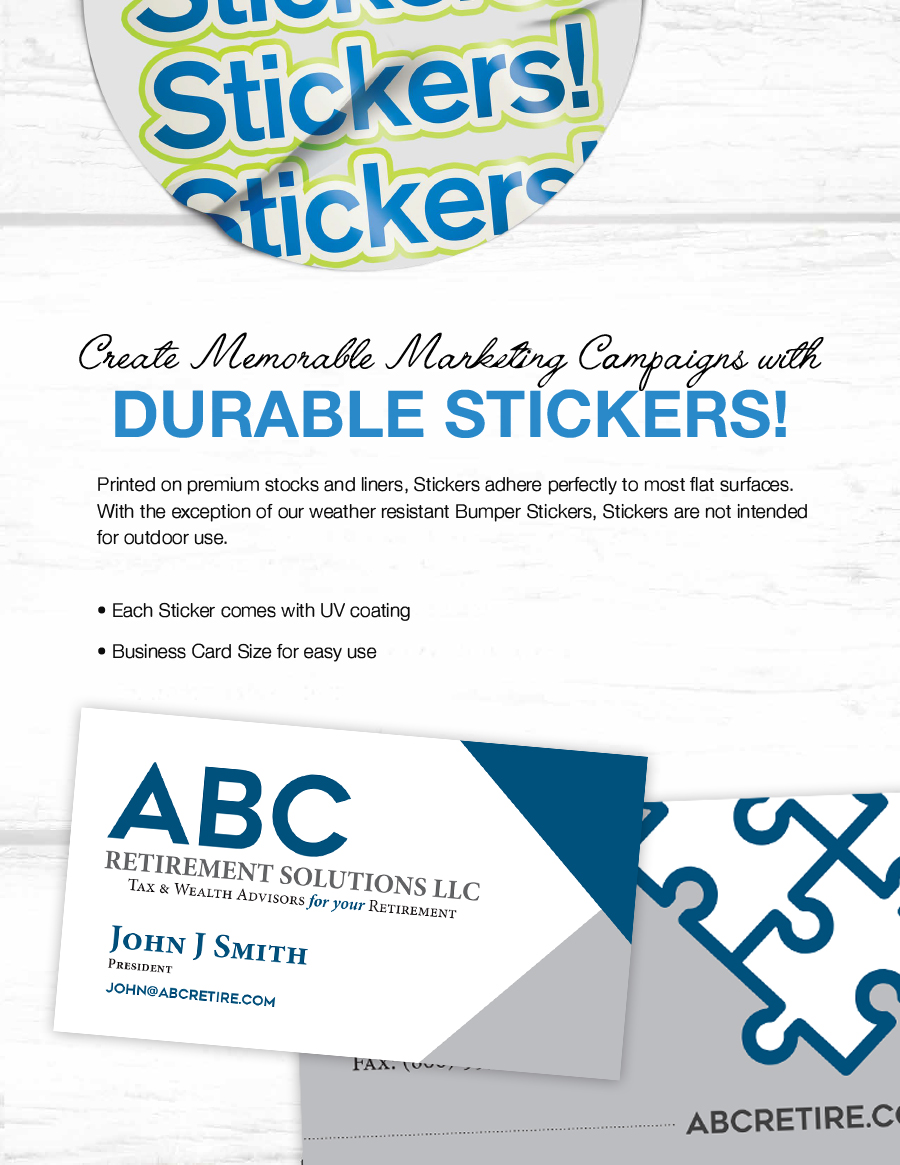 Business Card Stickers | Producer Tool Box